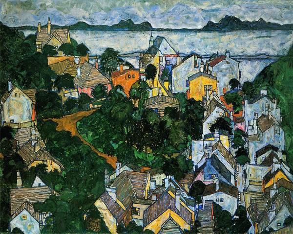 Neighborhood Painting - Summer Landscape by Egon Schiele