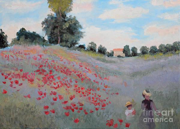 Shadow Digital Art - Summer Landscape Oil Painting by Erissona