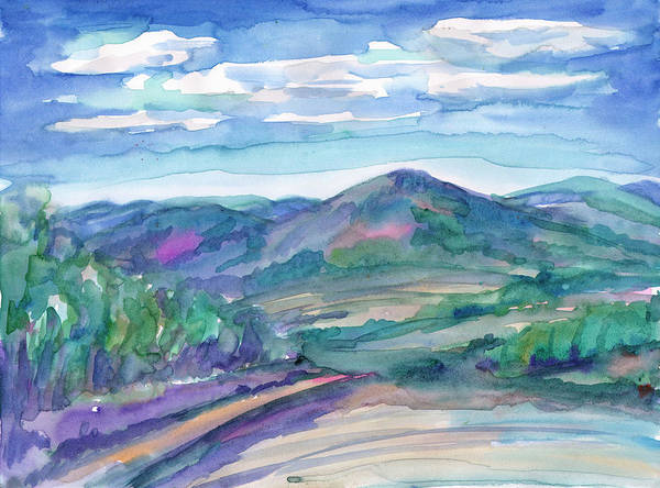 Painting - Summer Landscape - The Road To The Mountains. by Irina Dobrotsvet