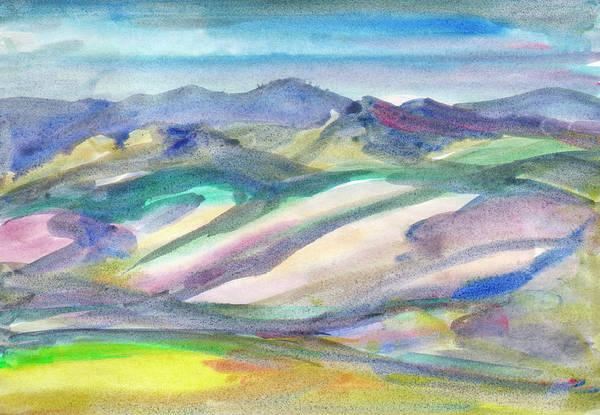 Painting - Summer Landscape With Hills by Irina Dobrotsvet