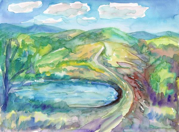 Painting - Summer Landscape With Mountain Lake by Irina Dobrotsvet