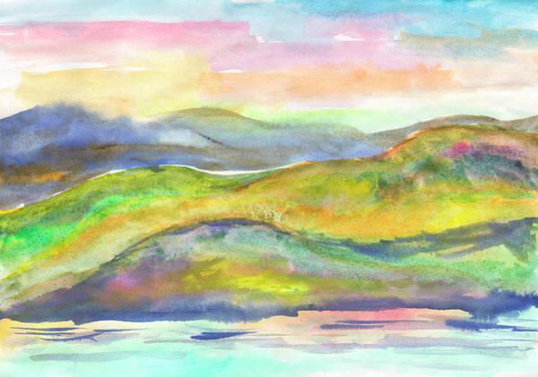 Painting - Summer Misty Hills by Irina Dobrotsvet