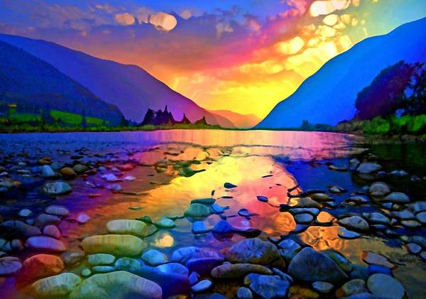 Digital Art - Summer Nights In The Similkameen by Tara Turner