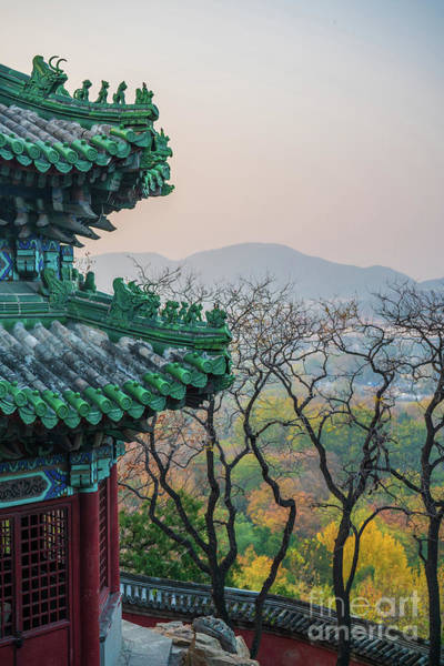 Wall Art - Photograph - Summer Palace Beijing Pavilion Details And Fall Colors by Mike Reid