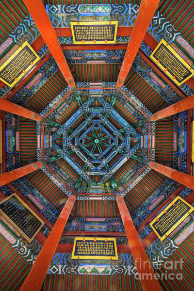 Wall Art - Photograph - Summer Palace Ceiling by Inge Johnsson