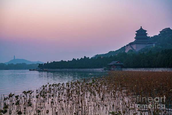 Wall Art - Photograph - Summer Palace Haze Sunset by Mike Reid