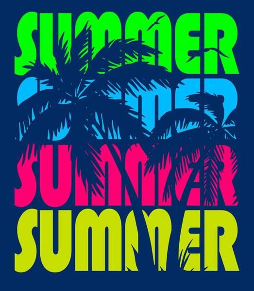 Wall Art - Digital Art - Summer Palm Trees by Filip Hellman