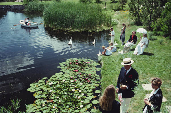 Water Lilies Photograph - Summer Picnic by Slim Aarons