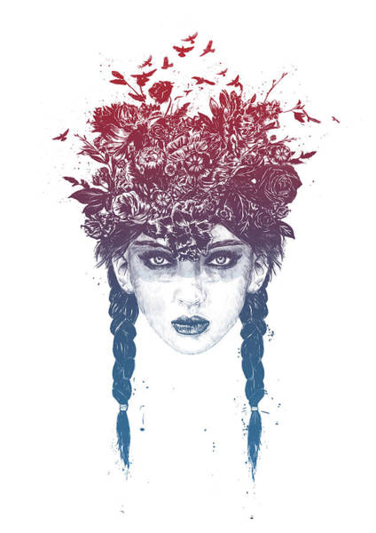 Girl Mixed Media - Summer Queen by Balazs Solti
