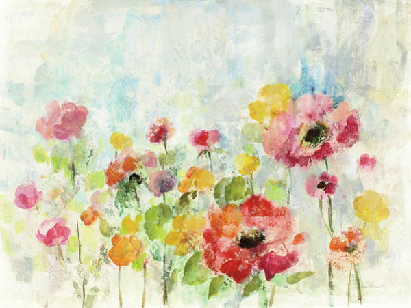Wall Art - Painting - Summer Rain Floral by Silvia Vassileva