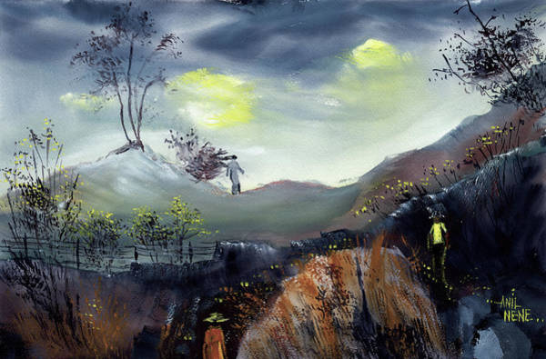 Painting - Summer Rains by Anil Nene