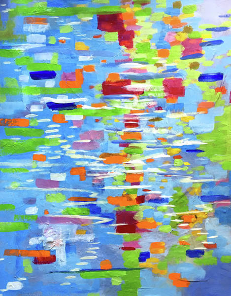 Wall Art - Painting - Summer Reflection by Nancy Merkle