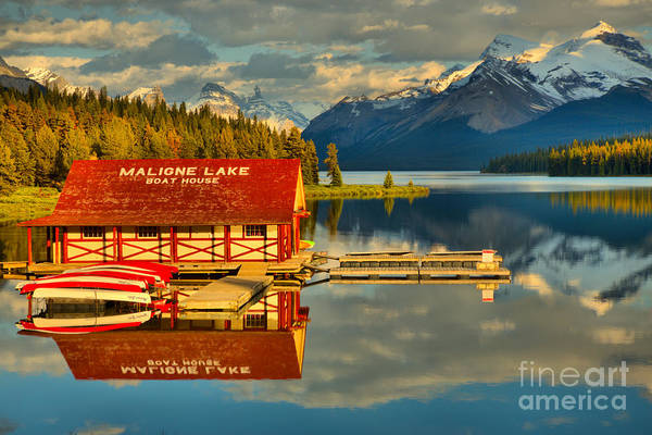 Photograph - Summer Reflections On Maligne Lake by Adam Jewell