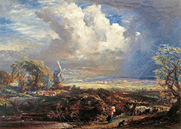 Wall Art - Painting - Summer Storm Near Pulborough, Sussex - Digital Remastered Edition by Samuel Palmer
