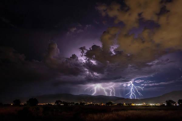 Photograph - Summer Storm Over Cedar City by Geoffrey C Lewis