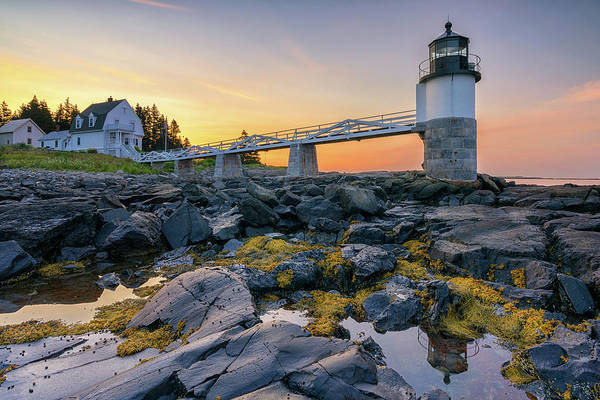 Photograph - Summer Sunrise At Marshall Point Lighthouse by Kristen Wilkinson