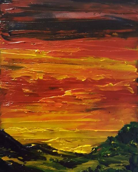 Painting - Summer Sunset        2319 by Cheryl Nancy Ann Gordon