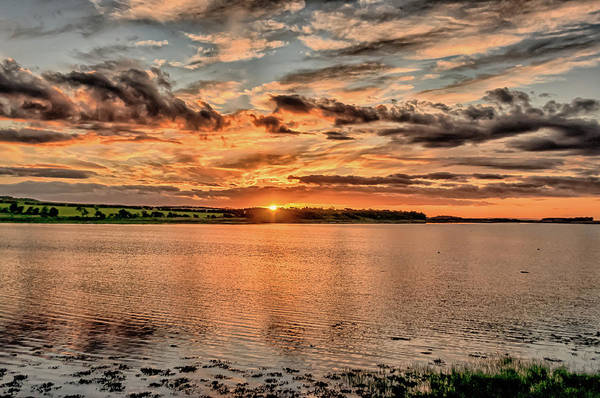 Preston Castle Photograph - Summer Sunset At Budle Bay by Naylors Photography