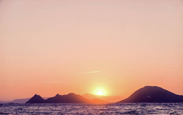Photograph - Summer Sunset At The Mediterranean Sea Coast by Anne Leven