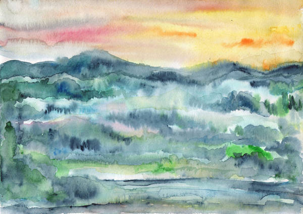 Painting - Summer Sunset by Irina Dobrotsvet
