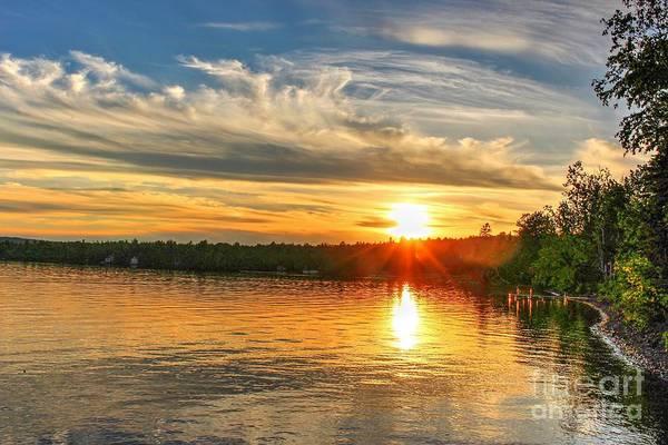 Madawaska Lake Photograph - Summer Sunset by Vickie Ketch