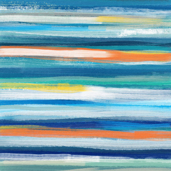 Surf Painting - Summer Surf 3- Art By Linda Woods by Linda Woods