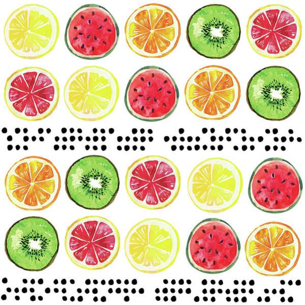 Pineapple Digital Art - Summer Sweetness Pattern I by Nd Art
