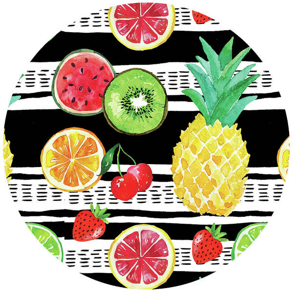 Pineapple Digital Art - Summer Sweetness Plate IIi by Nd Art
