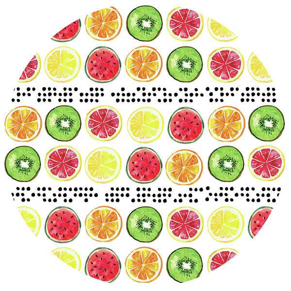 Pineapple Digital Art - Summer Sweetness Plate by Nd Art
