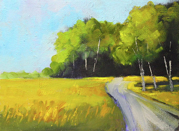 Wall Art - Painting - Summer Travel Landscape by Nancy Merkle