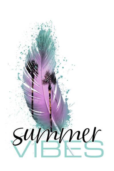 Wall Art - Digital Art - Summer Vibes Paradise Holiday by Melanie Viola