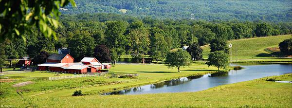 Wall Art - Photograph - Summer Panorama View Of Waterwheel Farm by Marilyn De Block