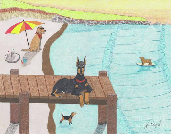 Drawing - Summertime Fun by John Wiegand