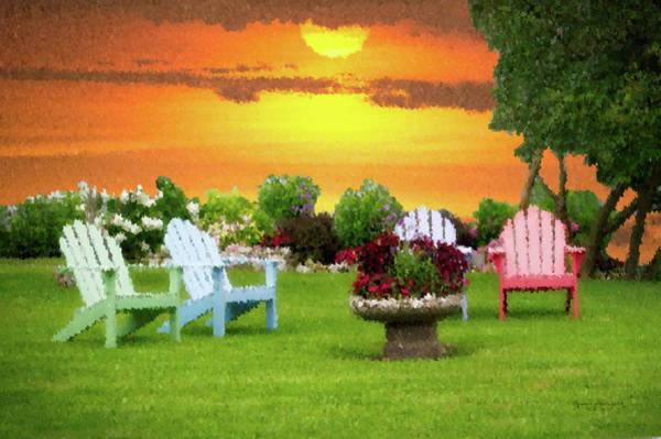 Wall Art - Photograph - Summertime Outdoor Seating Pa 04 by Thomas Woolworth