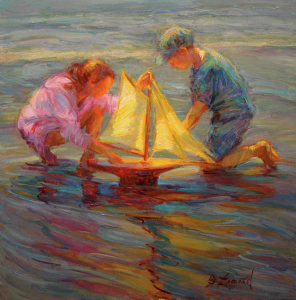 Wall Art - Painting - Summertime Sails by Diane Leonard