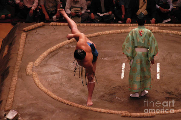 Arena Wall Art - Photograph - Sumo Stretch by Jimmy Mills