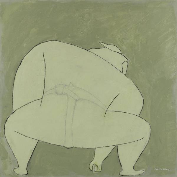 Wall Art - Painting - Sumo Wrestler by Ben Gertsberg