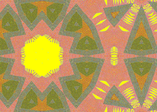 Drawing - Sun Abstract Squares Pattern 3 by Artist Dot
