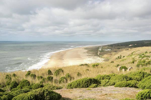 Photograph - Sun And Cloud Naza - Extreme Surfers Destination Praia Do Norte In Nazare Portugal by Georgia Mizuleva