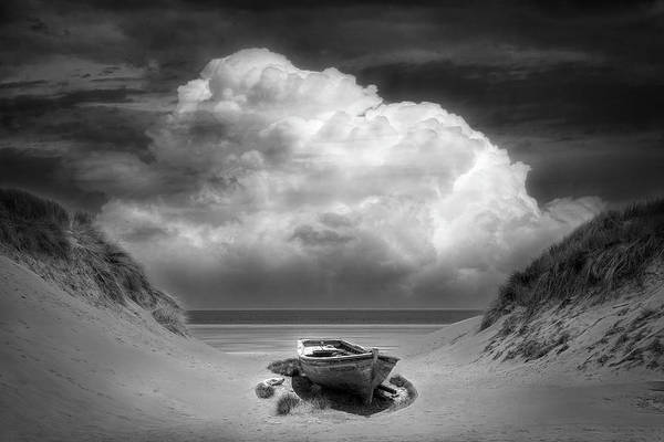 Photograph - Sun Beached In Radiant Black And White by Debra and Dave Vanderlaan