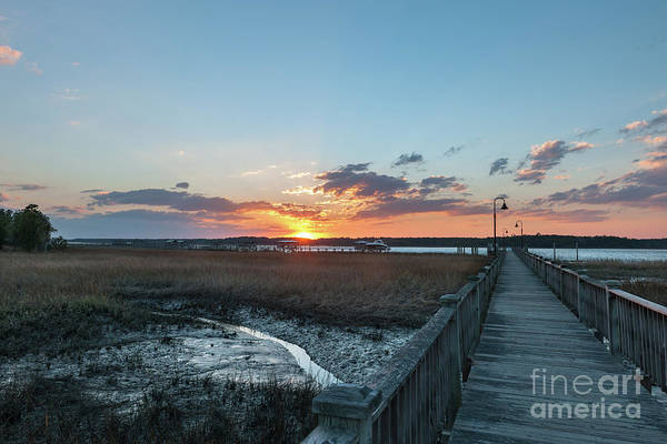 Photograph - Sun Beams - Wando River by Dale Powell