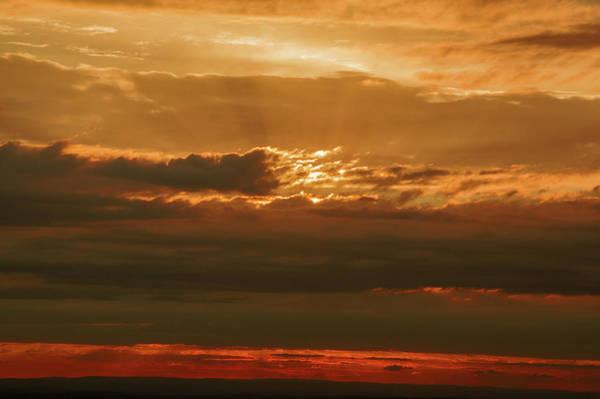 Photograph - Sun Behind Dark Clouds In Vogelsberg by Sun Travels