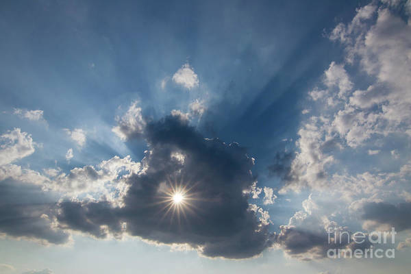Wall Art - Photograph - Sun Behind The Cloud With A Hole by Michal Boubin