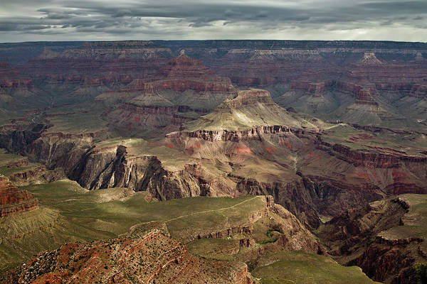 Photograph - Sun Breaking Through At Grand Canyon by Robert Woodward