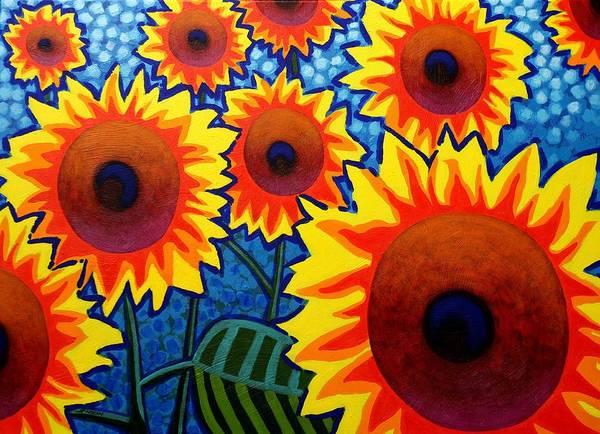 Wall Art - Painting - Sun Burst  by John  Nolan