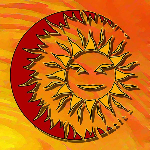 Sun Eclipsing The Moon Art Print