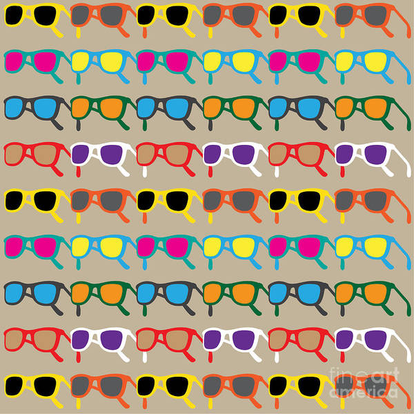 Wall Art - Digital Art - Sun Glasses Pattern by Leo Brazil