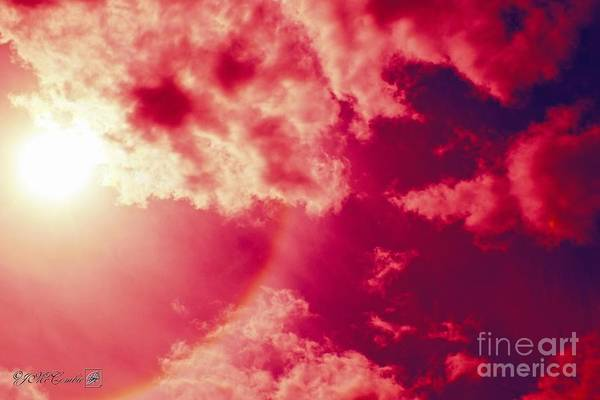 22 Degree Halo Wall Art - Photograph - Sun Halo In Red by J McCombie