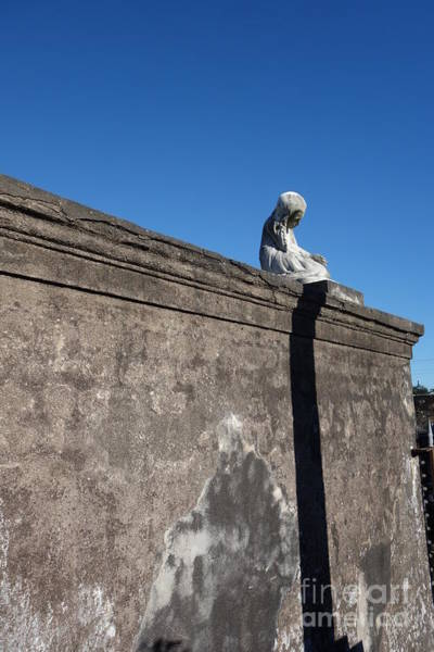 Photograph - Sun On Plaster Casting Shadow  -  New Orleans by Susan Carella