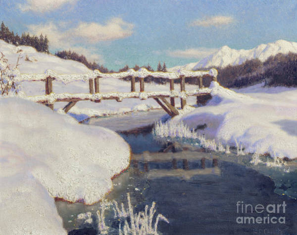 Wall Art - Painting - Sun On The Snow, Switzerland  by Ivan Fedorovich Choultse